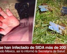 Alerta. Personas infectadas con SIDA dejan navajas con sangre en los parques