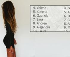 Los nombres más bonitos, según una encuesta. ¿Estará el tuyo?