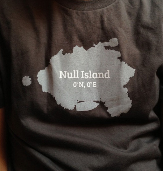 República de Null Island. Ubicada en latitud y longitud 0