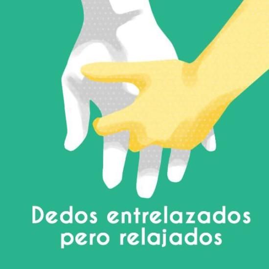 significado coger la mano