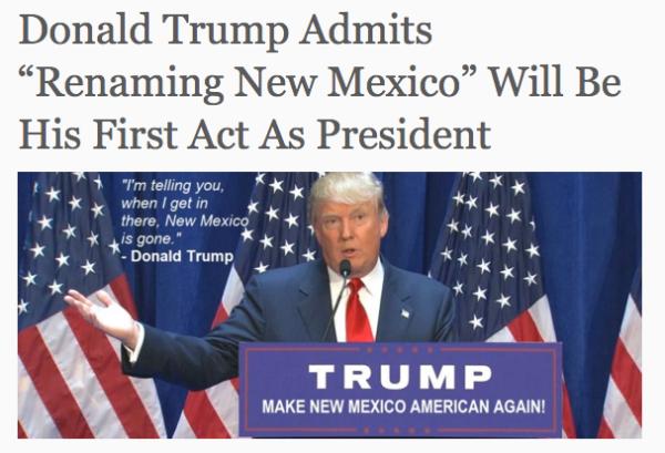 ¿Quiere Donald Trump cambiar el nombre al estado de Nuevo México?