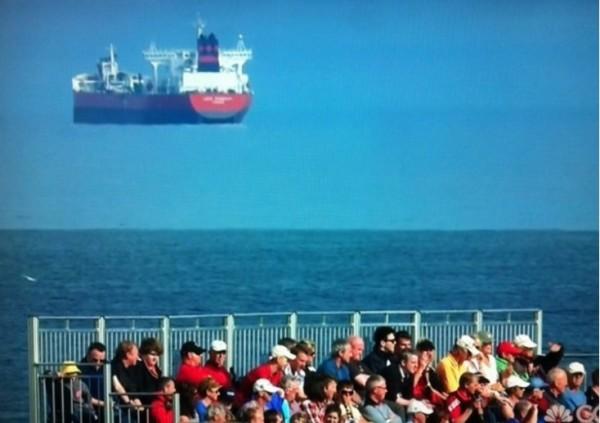 barco volando efecto