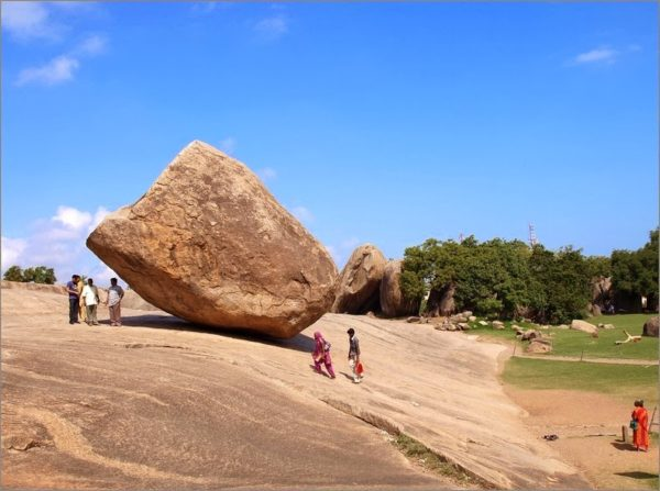 bola de mantequilla de krishna mahabalipuram india