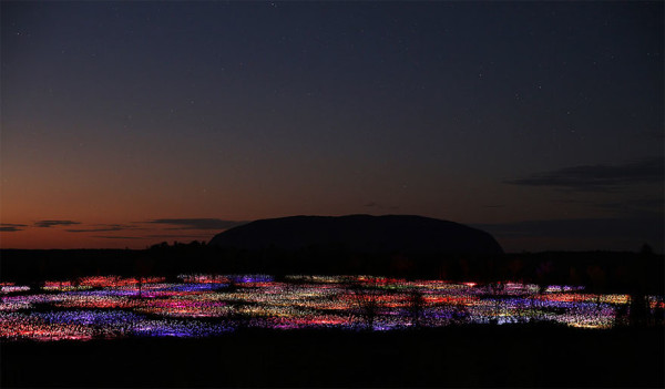 campos de luces bruce munro uluru australia