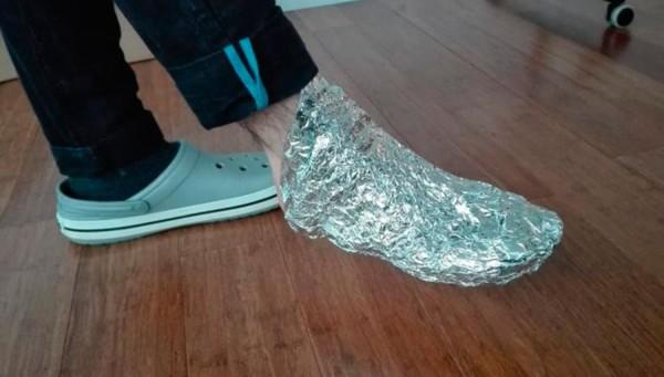 ¿Para qué envolver tu pie en aluminio? Cuando sepas por qué vas a querer hacerlo