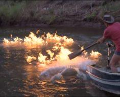 Este hombre prendió fuego a un río para concienciar al mundo