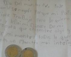 Niña mexicana le da el mejor regalo a su profesor con tan solo 2 pesos