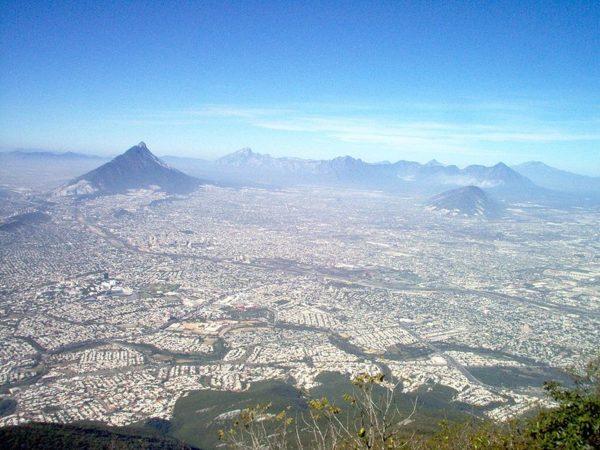 Panoramica desde el cielo Monterrey
