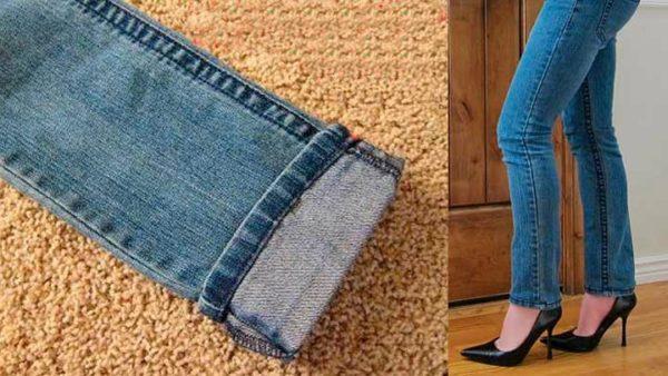 Acorta tus pantalones y mantén el remate original con este truco