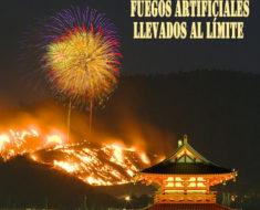 El festival de fuegos artificiales de Wakakusa Yamayaki en Japón