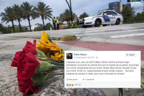 Un joven predijo la masacre en el bar en Orlando y dice que Donald Trump morirá muy pronto