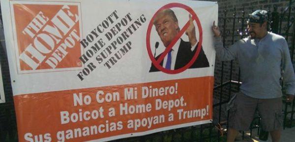 Llaman a boicot contra Home Depot por apoyo al muro de Trump