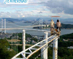 Skycycle, la montaña rusa que desafía a los ciclistas en Japón