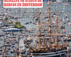 Espectacular vídeo 'timelapse' de cómo se resuelve un atasco de barcos en Ámsterdam