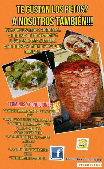 cartel taqueria desafio tacos promo cesar palace