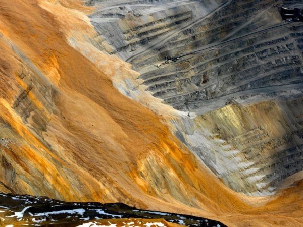 deslizamiento de tierras de la mina de cobre de bingham canyon