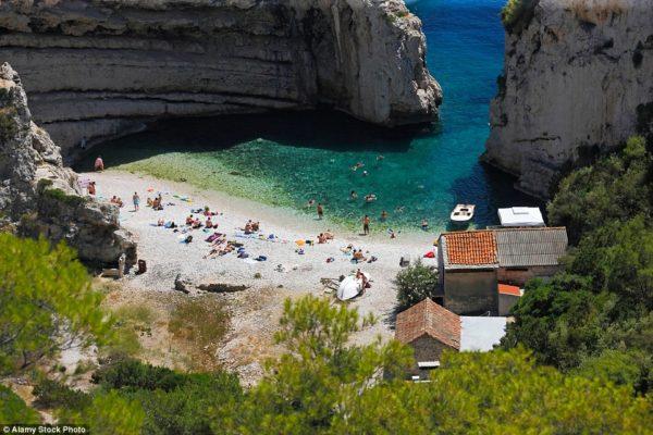 Isla Stiniva en Croacia