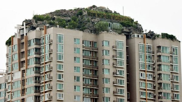 zhang biqing montaña encima de su casa