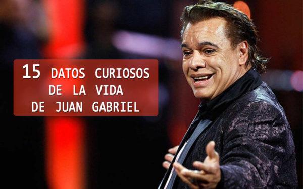 15 datos curiosos de la vida de Juan Gabriel