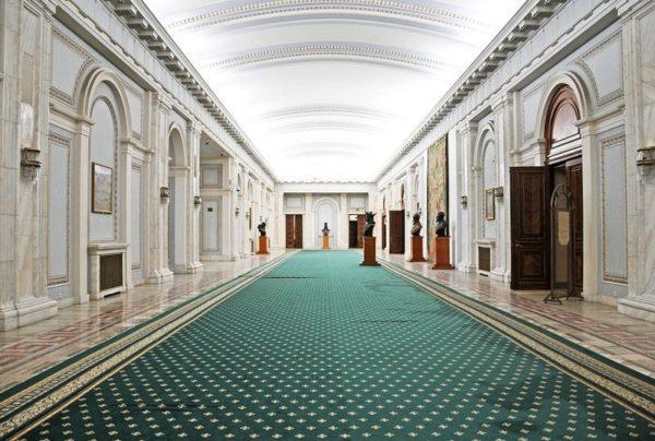 El Palacio del Parlamento en Bucarest, Rumania