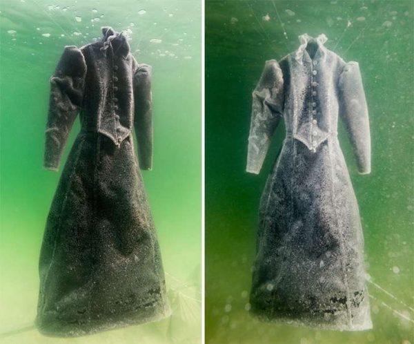 Hundió un vestido de gala en el Mar Muerto durante 2 años y ahora es millonario