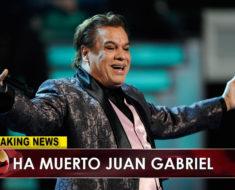 Muere Juan Gabriel, la leyenda mexicana muere a los 66 años de un ataque cardíaco