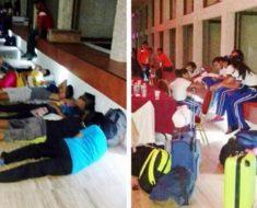Niños atletas tienen que dormir en el suelo mientras el director de la CONADE viaja con su novia como un rey