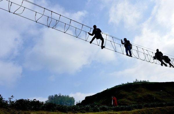 El puente del diablo de Xuan'en China