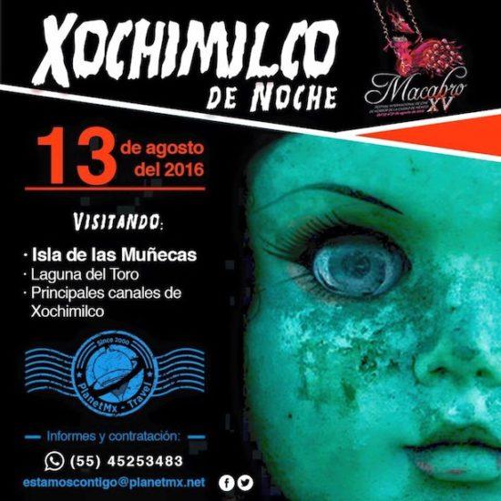 Recorrido nocturno por la isla de las muñecas en Xochimilco