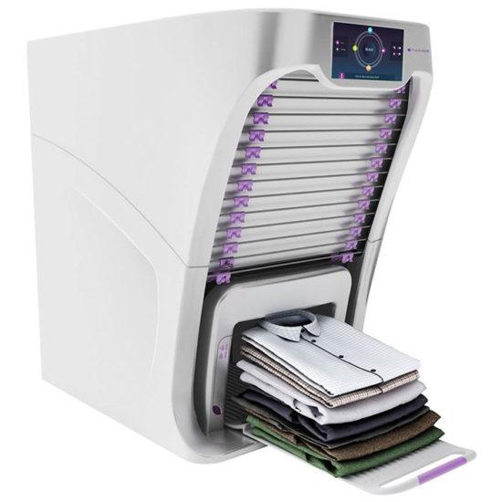 Esta máquina dobla tu ropa en pocos segundos