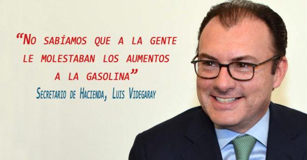 Aumento en la gasolina no afecta a los pobres, solo afecta a los ricos, comenta el Secretario de Hacienda