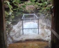 coudersport pennsylvania cueva produce hielo solo en verano