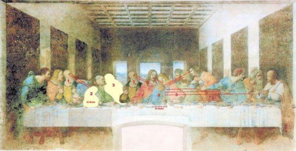 """""""La última cena"""" de Leonardo Da Vinci nos muestra a la hija de Jesús, el bebé de la última cena"""