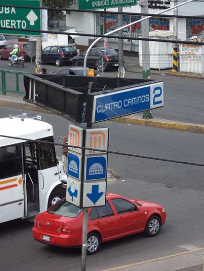 Metro Cuatro Caminos en la Ciudad de México