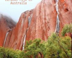Unas cascadas con corazón rojo en Australia