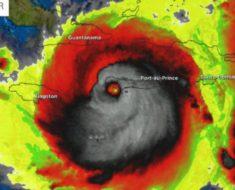 El huracán Matthew formó una figura diabólica antes de cobrar varias vidas en Haití