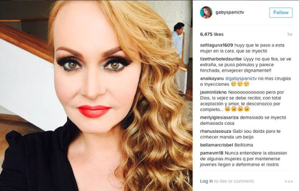 actriz gabriela spanic nuevo rostro operacion