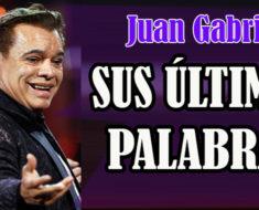 Se filtran las últimas palabras de Juan Gabriel ¡Qué impacto!