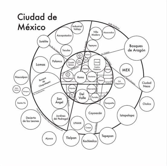 Este mapa simplificado de la Ciudad de México diseñado por un urbanista de Harvard, es increíble y relajante