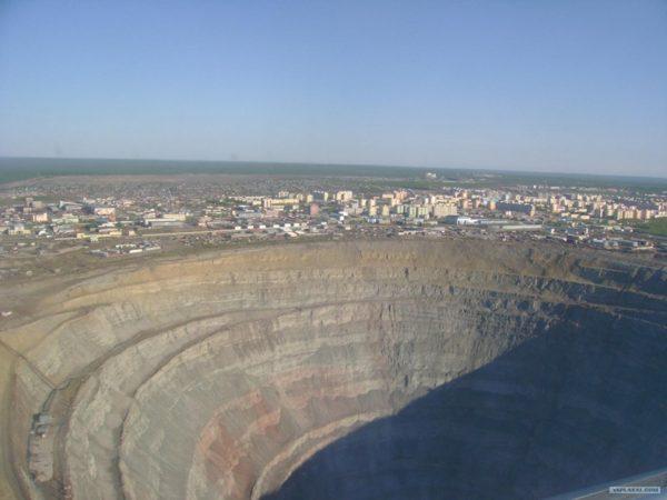 Mir, una mina de diamantes en Siberia