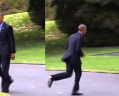 obama corre apurado olvido algo