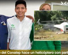 Estudiantes del CONALEP construyó un helicóptero con partes de autos