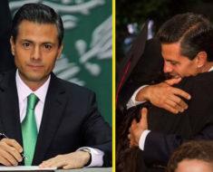 Enrique Peña Nieto deja la presidencia. Está firmando su renuncia en estos momentos