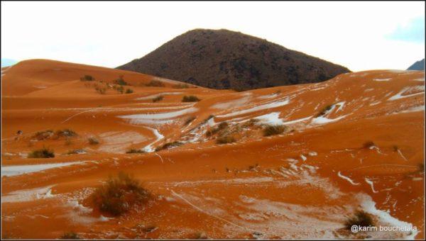 espectaculares fotos de nieve en el Sahara