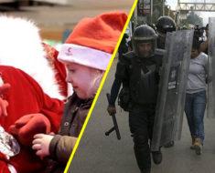 Lo que esta pequeña le pidió a Santa hizo que 50 policías fueran a su casa