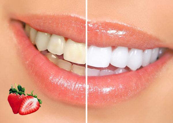Deliciosa receta con fresas para blanquear los dientes