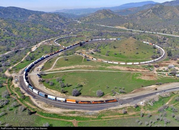 Tren Tehachapi Loop California