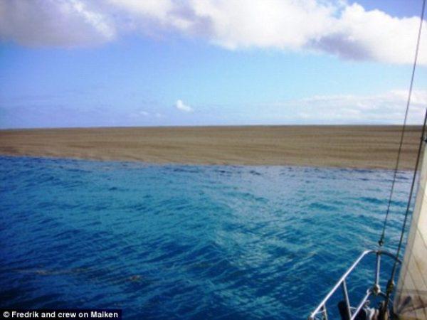Encontraron un misterioso banco de arena en medio del océano Pacífico