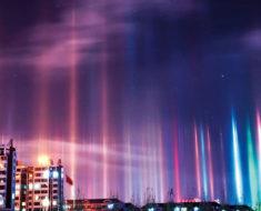 El impresionante fenómeno óptico de los pilares de luz (10 fotos)
