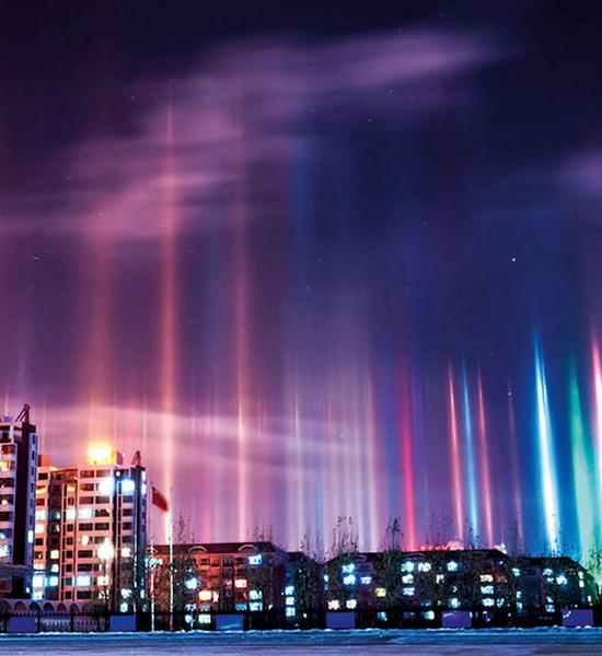 El impresionante fenómeno óptico de los pilares de luz (10
